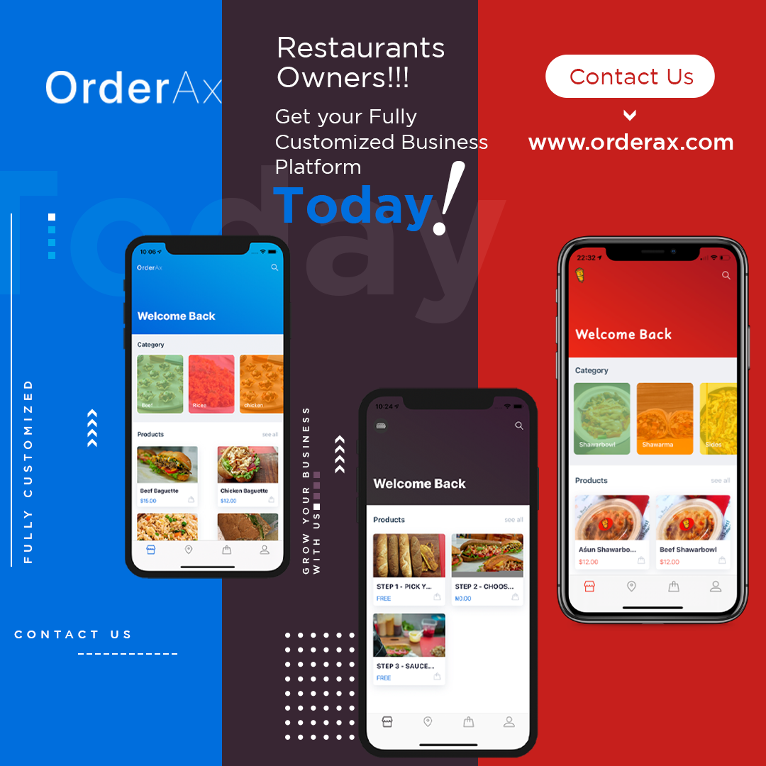 Restaurants owners!!! Get you customize mobile ordering app